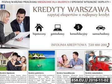 Zrzut strony Lokalny serwis finansowy prezentujący ofertę kredytów i pożyczek