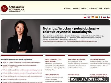 Zrzut strony Notariusz Wrocław
