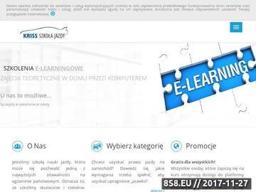 """Zrzut strony Ośrodek Szkolenia Kierowców """"KRISS"""" - Strony Prawojazdy.com.pl"""
