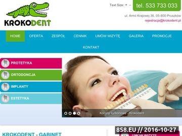 Zrzut strony Krokodent.pl - stomatolog