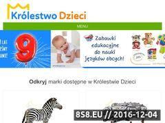 Miniaturka domeny www.krolestwodzieci.pl