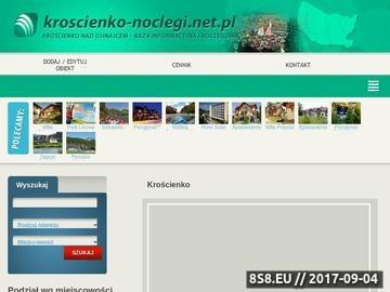 Zrzut strony Krościenko baza noclegowa
