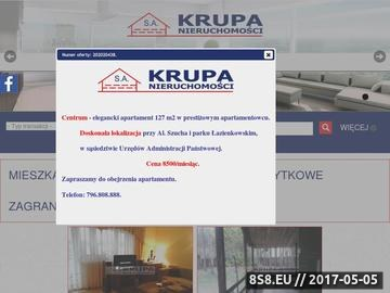Zrzut strony Krupa Nieruchomości Warszawa