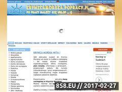 Miniaturka domeny krynicamorska.popracy.pl