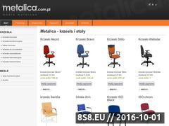 Miniaturka domeny krzesla.metalica.com.pl