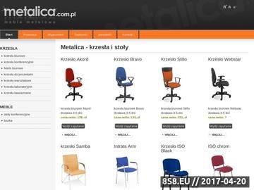 Zrzut strony Metalica - krzesła i stoły