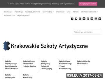Zrzut strony Kierunki artystyczne - kursy przygotowawcze