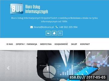 Zrzut strony BUI Systemy komputerowe dla aptek