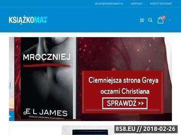Zrzut strony Księgarnia internetowa Książkomat