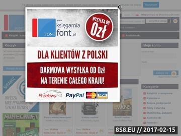Zrzut strony Polska księgarnia - Ksiegarniafont
