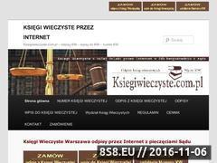Miniaturka domeny www.ksiegiwieczyste.com.pl
