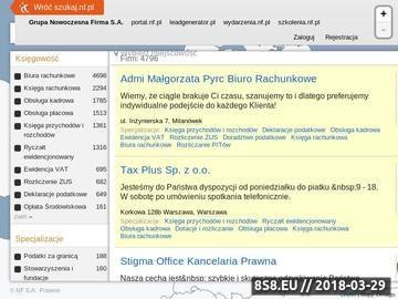 Zrzut strony Ksiegowi.nf.pl