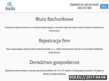 Zrzut strony Biuro rachunkowe Burda