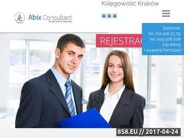 Zrzut strony Usługi księgowo-podatkowe