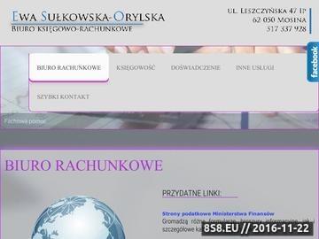 Zrzut strony E. Sułkowska-Orylska - rachunkowość
