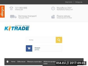 Zrzut strony K-Trade - urządzenia czyszczące