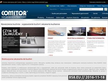 Zrzut strony COMITOR oferuje wyposażenie do gastronomii