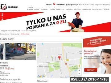 Zrzut strony Kurier Łódź. Przesyłki kurierskie i kwiaciarnia internetowa.