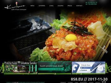 Zrzut strony Restauracja Bydgoszcz - sushi na telefon