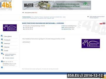 Zrzut strony Bogumił J. Kurowski - biuro rachunkowe