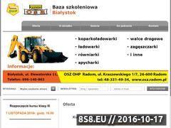 Miniaturka domeny kurs-operatora-koparkoladowarki-bialystok.pl