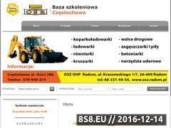 Miniaturka domeny kurs-operatora-koparkoladowarki-czestochowa.pl