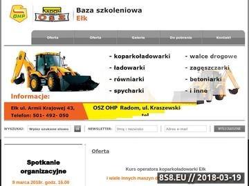 Zrzut strony Kurs operatora koparkoładowarki Ełk