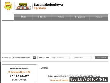 Zrzut strony Kurs operatora koparkoładowarki Tarnów