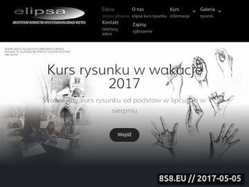 Zrzut strony Kurs Rysunku Elipsa Kraków