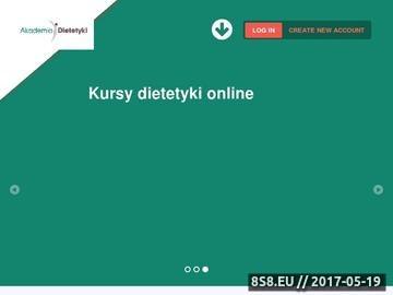 Zrzut strony Kurs dietetyki z certyfikatem
