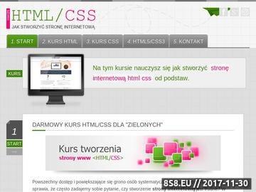 Zrzut strony Kurs HTML