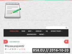 Miniaturka domeny kursprogramowania.edu.pl