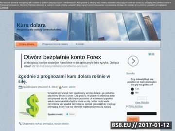 Zrzut strony Kursy dolara