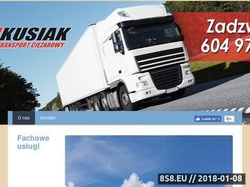 Zrzut strony KUSIAK transport specjalistyczny