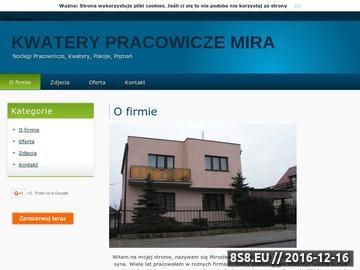 Zrzut strony Pokoje pracownicze Poznań