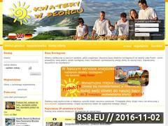 Miniaturka domeny www.kwaterywsloncu.pl