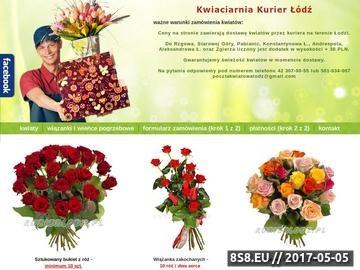 Zrzut strony Kwiaciarnia internetowa Łódź - kwiaty Łódź