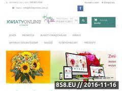 Miniaturka domeny kwiatyonline.com.pl