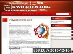 Miniaturka domeny kwiecien.org