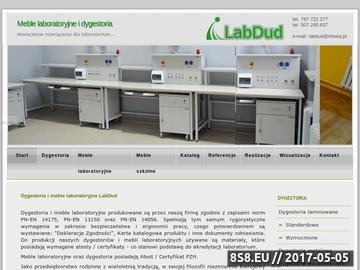 Zrzut strony Dygestorium, meble laboratoryjne i stoły laboratoryjne