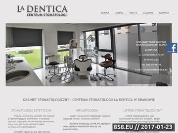 Zrzut strony Stomatologia La Dentica w Krakowie