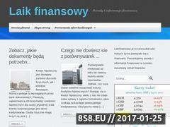 Miniaturka domeny www.laikfinansowy.pl