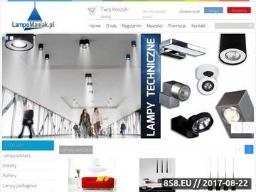 Zrzut strony Sklep internetowy z lampami oferuje nowoczesne lampy wiszące