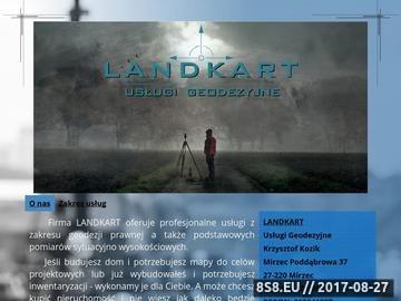 Zrzut strony Firma Landkart oferuje szeroki zakres usług geodezyjnych