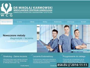 Zrzut strony Leczenie mięśniaków Wrocław - dr Mikołaj Karmowski