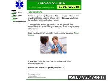 Zrzut strony Małgorzata Zborowska laryngolog Lublin, wizyty domowe Lublin tel. 607929743