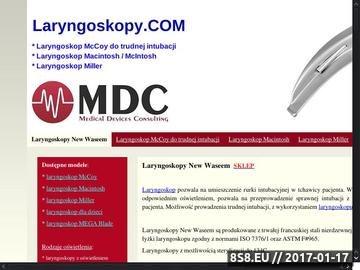 Zrzut strony Laryngoskopy światłowodowe