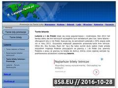 Miniaturka domeny www.latanie-tanie.pl
