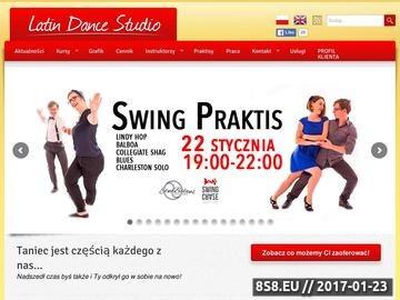 Zrzut strony Latin Dance Studio - Szkoła Tańca w Poznaniu