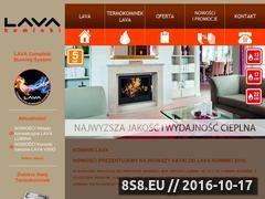Miniaturka domeny www.lavakominki.pl